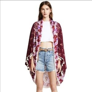 NWT FREE PEOPLE BALI WRAPPED IN BLOOMS SHAWL